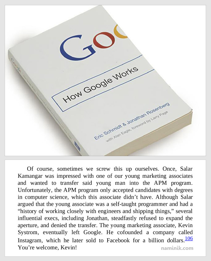 سالار کمانگر در کتاب گوگل چگونه کار می کند. برندسازی شخصی